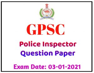 GPSC OLD QUESTION PAPERS